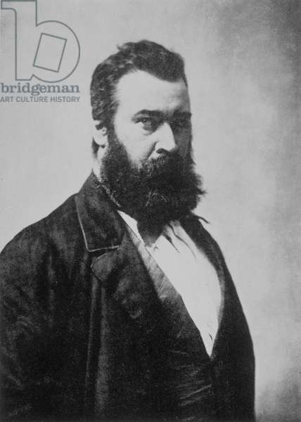 Jean-Francois Millet (1814-1875), French painter, photograph by Nadar, 19th century