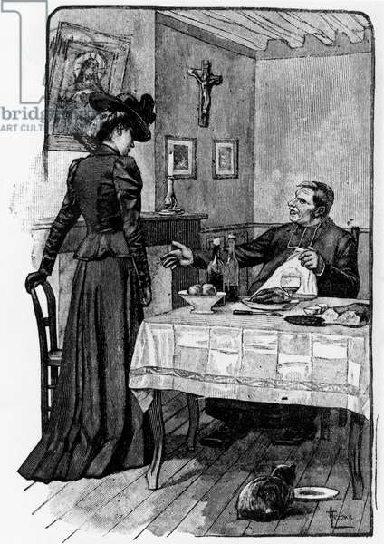 Illustration from A Life (Une vie ou l'humble Verite) by Guy de Maupassant (1850-1893), French edition, 19th century