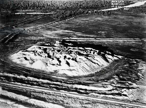 Tell Babil, Nebuchadnezzar's summer palace, August 19, 1927, Babylon, Iraq, 20th century