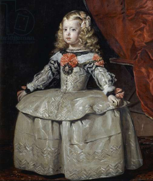 Infanta Margaret Theresa of Habsburg (1651-1673) in white dress, 1656 ca, by Diego Velazquez, oil on canvas, 105x88 cm