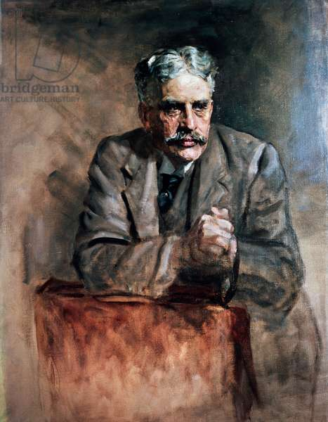 Portrait of Robert Laird Borden (Grand-Pre, 1854-Ottawa, 1937), politician and prime minister of Canada from 1918 to 1930, painting by James Guthrie (1859-1930), oil on canvas, 90x69.3 cm