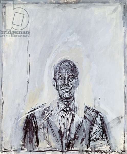 Portrait of a man, 1969, by Alberto Giacometti (1901-1966). Italy, 20th century.