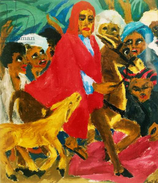 Life of Christ, the entry into Jerusalem, by Emil Nolde (1867-1956), 1915, by Emil Nolde (1867-1956), oil on canvas, 100x86 cm. Germany, 20th century.