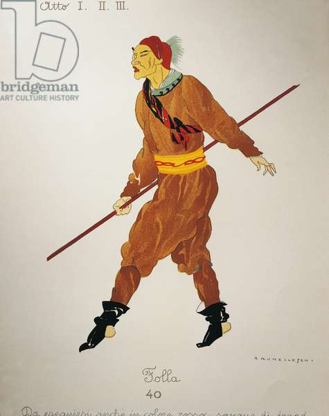 Costume for the rabble from Turandot by Giacomo Puccini, sketch by Umberto Brunelleschi (1879-1949) for the first performance of the opera at the Teatro alla Scala in Milan, April 25, 1926. 20th century
