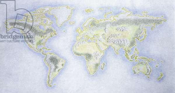 World map; illustration (photo)