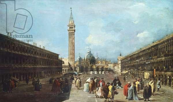 St Mark's Square, Venice, c.1760 (oil on canvas)