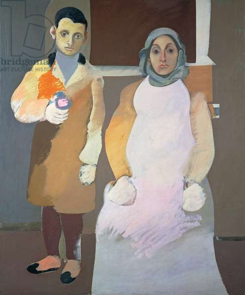 The artist and his mother, ca 1926-1936, by Arshile Gorky (1904-1948), oil on canvas, 152x127 cm. United States of America, 20th century.
