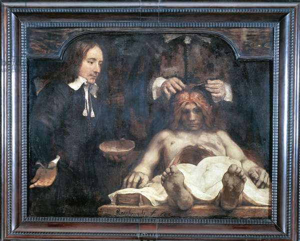 Doctor Deyman's Anatomy Lesson, 1656, by Rembrandt (1606-1669), oil on canvas, 100x134 cm