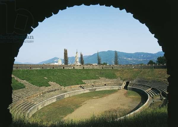 Amphitheatre, Pompeii (Unesco World Heritage List, 1997), Campania, Italy, Roman civilization, 1st century BC