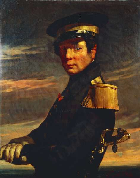 Portrait of naval officer, 1845, by Jean-Francois Millet (1814-1875), oil on canvas, 81x65 cm