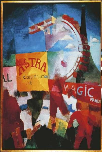 The Cardiff Team, 1912-13 (oil on canvas)