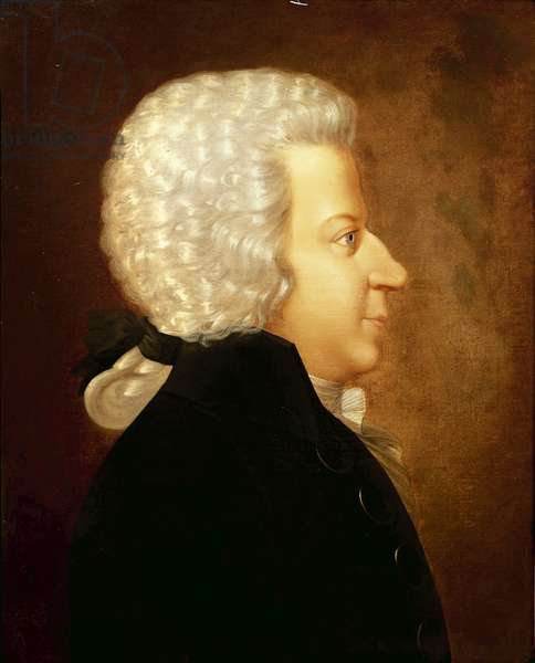 Austria, Portrait of Austrian composer and pianist Wolfgang Amadeus Mozart (1756 - 1791)