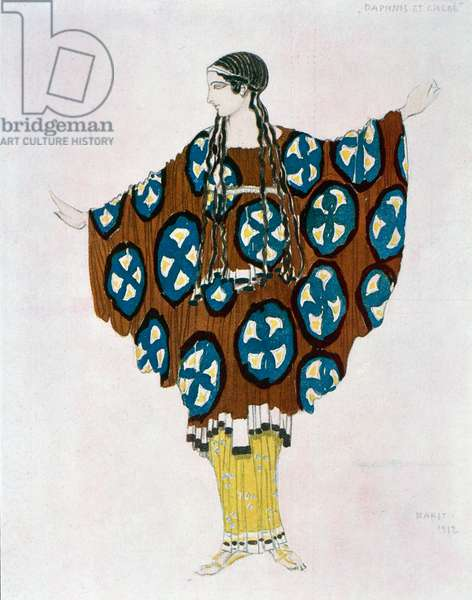 Costume for Daphnis and Chloe by Maurice Ravel (1875-1937), sketch by Leon Bakst (1866-1924), 1912, 20th century