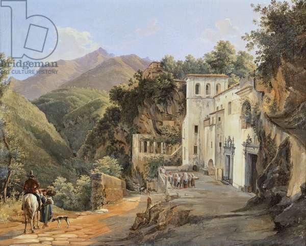 Avvocatella Church in Cava, by Raffaele Carelli, oil on canvas