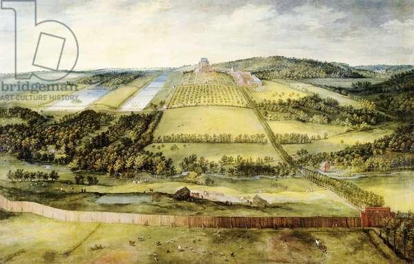 Chateau of Mariemont by Jan Brueghel Elder, Velvet Bruegel (1568-1625)