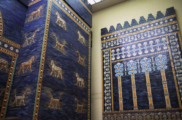 Hall of Ishtar Gate, reconstruction in Pergamon Museum, Berlin, Germany, Babylonian civilization, 2nd millennium - 6th century BC, Detail