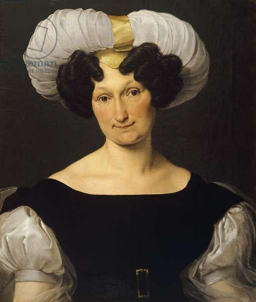 Portrait of Frances Majnoni d'Intignano dell'Acquafredda, by Francesco Hayez (1791-1882), oil on canvas, 60x50 cm, 1829