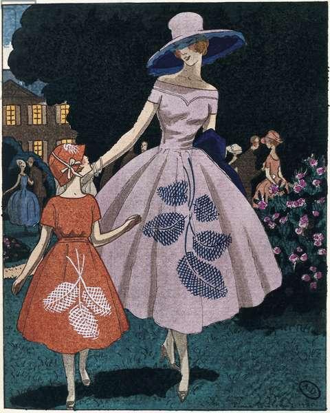 "Organza dress, from ""Le Bon Ton"" magazine, by Jeanne-Marie Lanvin, 1920"