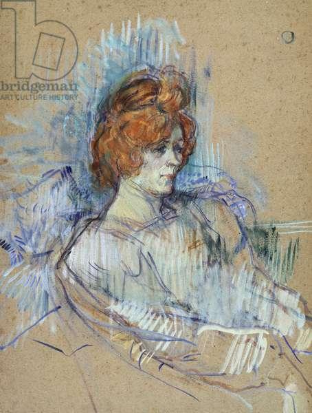 On stage, by Henri de Toulouse-Lautrec (1864-1901)