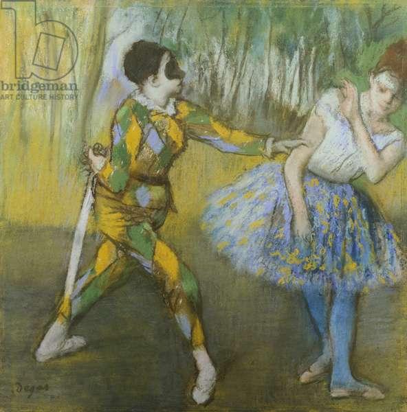 Harlequin and Columbine, by Edgar Degas (1834-1917)