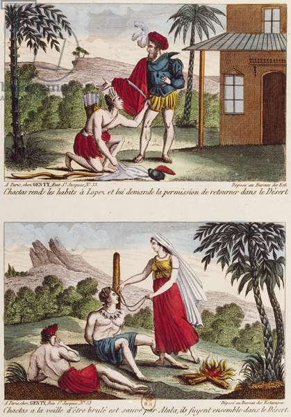 Atala, illustrations for 1801 novella by Francois-Rene de Chateaubriand (1768-1848)