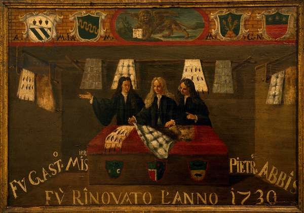 Signboard of Guild of furriers in Venice, 1730, Italy, 18th century
