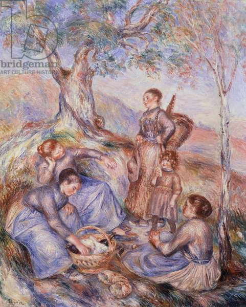 Harvesters breakfast by Pierre-Auguste Renoir (1841-1919)