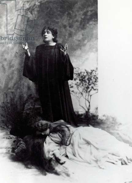 The Italian actress Eleonora Duse (1858-1924) in The Dead City by Gabriele D'Annunzio, production still, 1901. 20th century