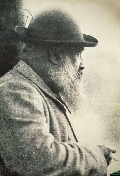 Claude Monet (1840-1926), vintage photo, France, 19th century