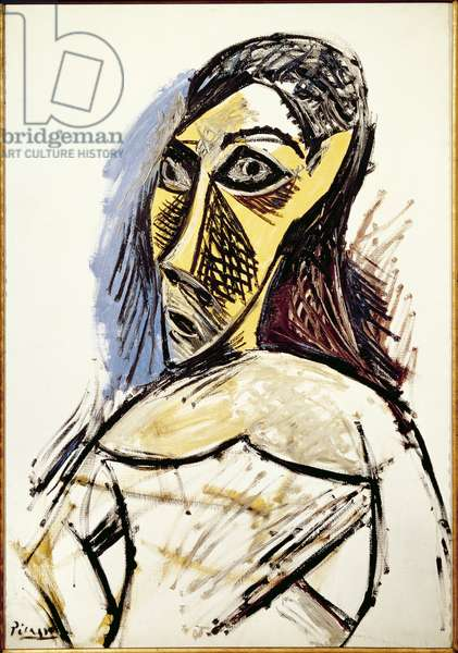 Bust of a Woman (Study for Les Demoiselles d'Avignon), 1907 (oil on canvas)
