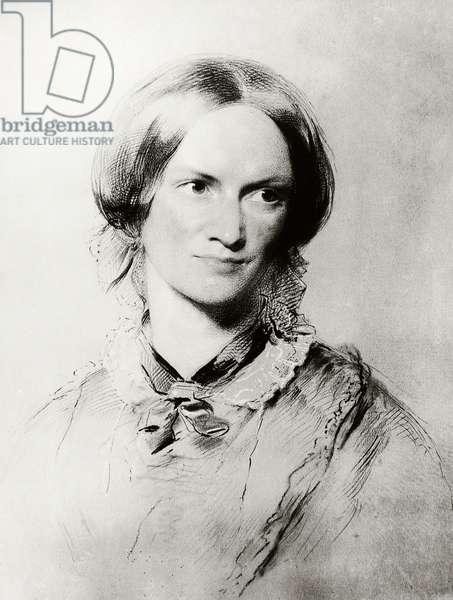 Portrait of Charlotte Bronte (Thornton, 1816-Haworth, 1855), writer, engraving, United Kingdom, 19th century