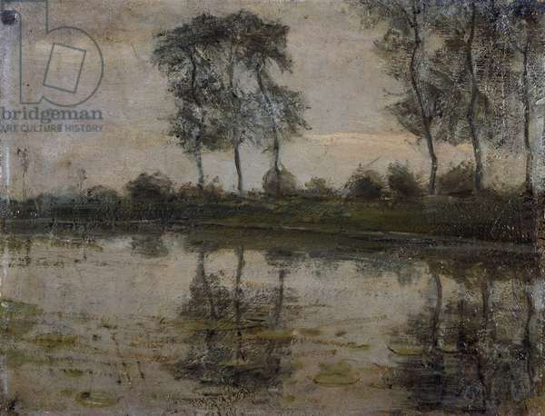 Trees by the River Gein, by Piet Mondrian (1872-1944). Netherlands, 20th century.