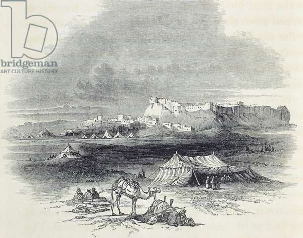Tel Afera near Mosul, Iraq, drawing taken from Illustrations of the Monuments of Nineveh by Austen Henry Layard, 1849.