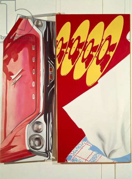 Discs, 1963, by James Rosenquist (1933), acrylic. United States of America, 20th century.