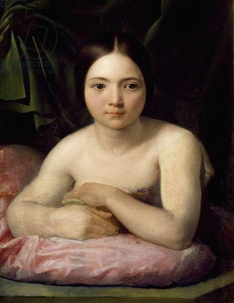 The model, by Odorico Politi (1785-1846), oil on canvas, 63x49 cm