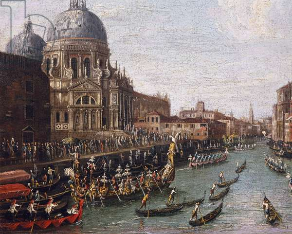 Regatta on the Grand Canal in Venice, detail