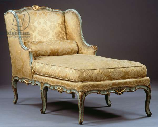 Louis XV style chaise longue, France, 18th century