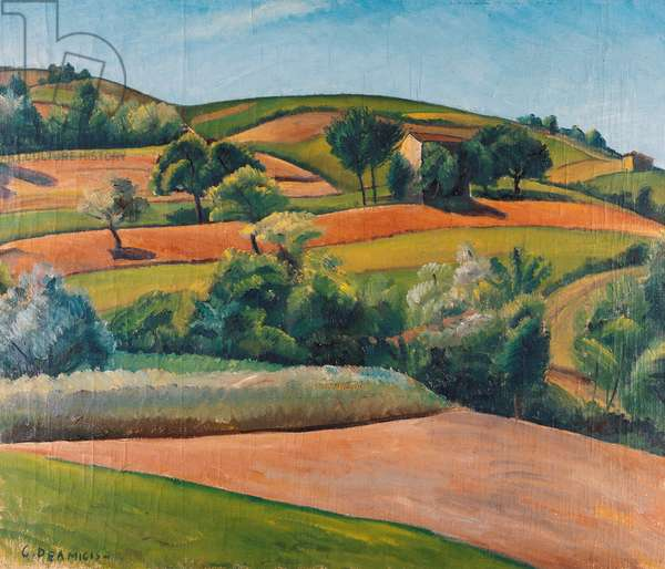 Hills of Acqui, 1927 (oil on canvas)