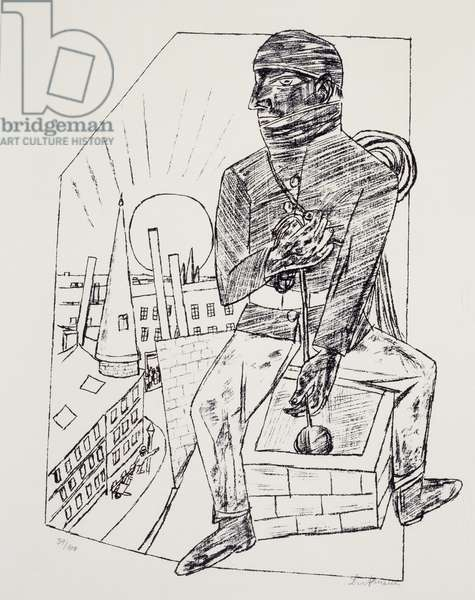 The Chimney sweep, by Max Beckmann (1884-1950), lithograph. Germany, 20th century.