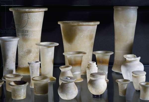 Vases, alabaster, Egyptian civilization, Old Kingdom