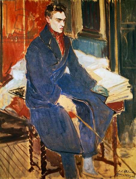 Portrait of Raymond Radiguet (Saint-Maur-des-Fosses, 1903-Paris, 1923), French writer and poet, painting by Jacques-Emile Blanche (1861-1942), France, 20th century