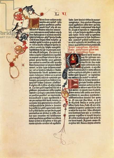 Bible page Mazarine (B42), 1452-1455