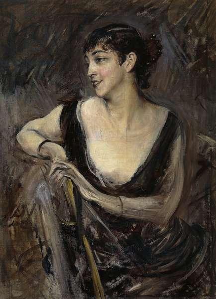 The Countess De Rasty sitting by Giovanni Boldini (1842-1931), oil on canvas, ca 1879