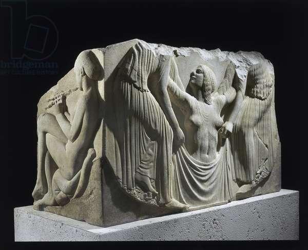 Ludovisi Throne, Thasos marble