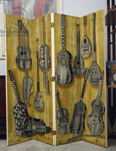 Screen with musical instruments, 1950s