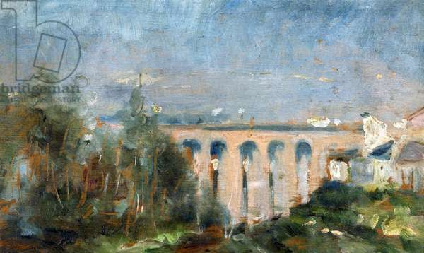 Castelviel viaduct in Albi, 1880, by Henri de Toulouse-Lautrec (1864-1901), oil on canvas, 14x23 cm