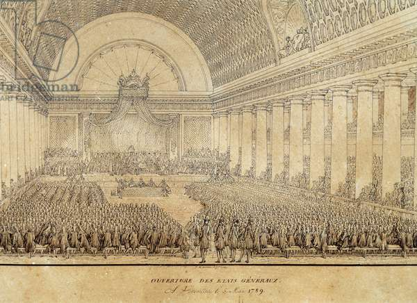 Opening of Estates General in Versailles on May 5, 1789, engraving, France, 18th century