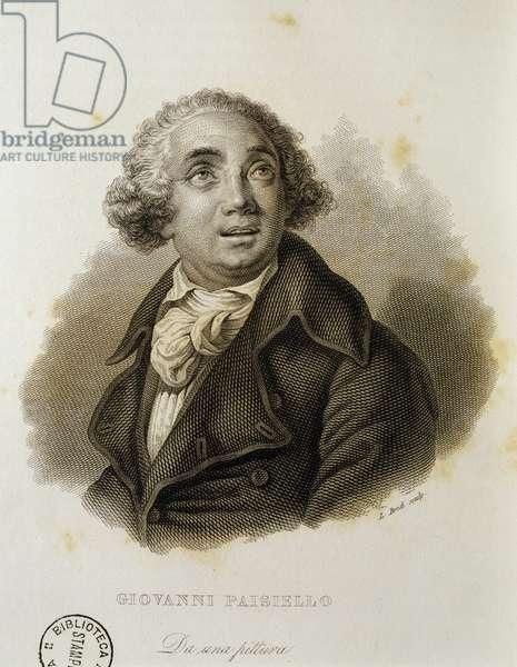 Portrait of Giovanni Paisiello (Taranto, 1740 - Naples, 1816), Italian composer, Print