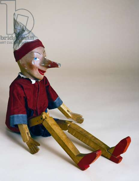 Pinocchio, wooden and cardboard toy, 1920