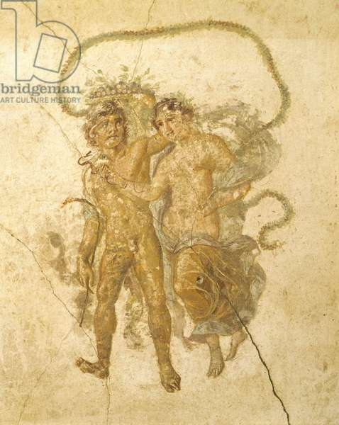 Allegorical representation of spring, House of Vettii, Pompeii ,Campania, Roman Civilization, 1st Century